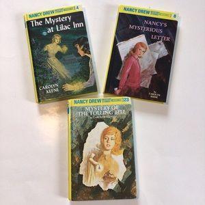 3 Nancy Drew books